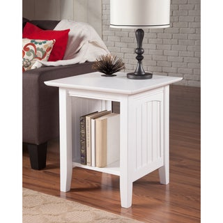 White Nantucket End Table