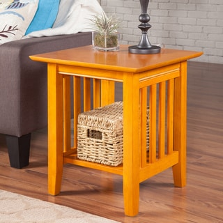 atlantic caramel latte mission end table atlantic mission work table