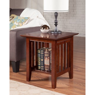 Mission Walnut Wood End Table