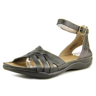 Array Women's 'Madrid' Black Leather Sandals