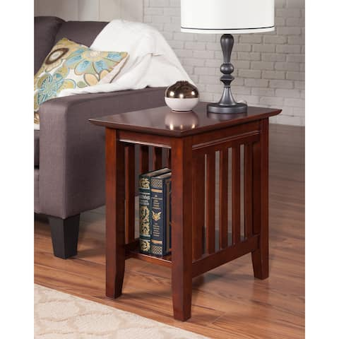 Walnut Brown Mission Side Table