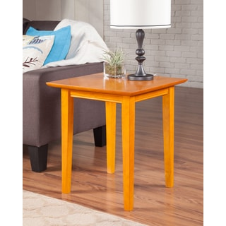 Shaker Caramel Latte End Table