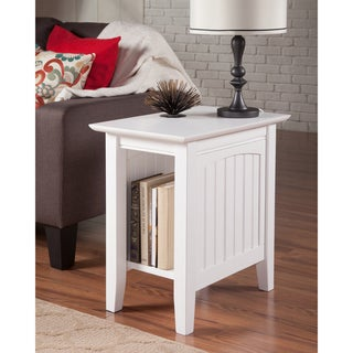 Nice Nantucket White Wood Side Table