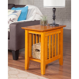 Mission Caramel Latte Wooden Side Table