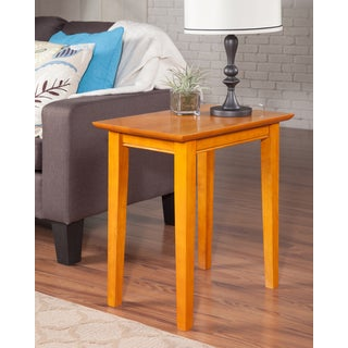 Shaker Caramel Latte Wood Side Table