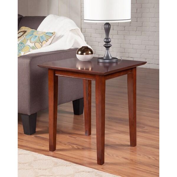 Light Walnut Wood Caleb Accent Table: Shop Shaker Walnut Wood End Table