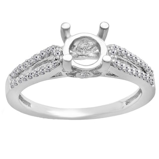 14k Gold 1/3ct TDW Round White Diamond Split Shank Engagement Ring (I-J, I1-I2)