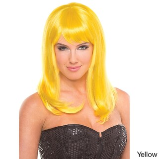 Be Wicked Synthetic Medium-length Fashion Hollywood Wig (Option: Yellow)