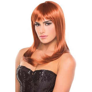 Be Wicked Synthetic Medium-length Fashion Hollywood Wig (Option: Chestnut)