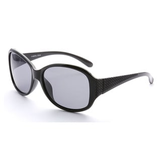 Epic Eyewear Women's Black Plastic Oversized Round Fashion Sunglasses