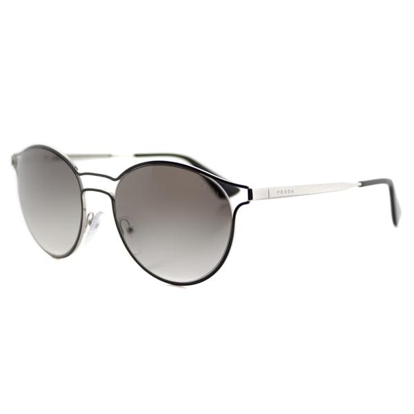 5e3be79786 ... netherlands prada pr 62ss 1ab0a7 cinema black silver metal round grey  gradient lens sunglasses 2fd5b 8dcdb ...