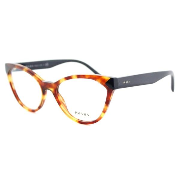 Prada Eyeglass Frames Cateye : Prada PR 02TV 4BW1O1 Havana Plastic Cat-Eye 52mm ...