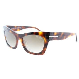 Tom Ford TF 459 56F Kasia Tortoise Plastic Cat-Eye Brown Gradient Lens Sunglasses