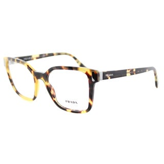 Prada PR 05TV 7S01O1 Medium Havana Plastic Square 52mm Eyeglasses