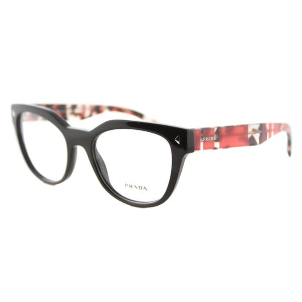 8cf89803b2c Shop Prada PR 21SV DHO1O1 Brown Plastic Cat-Eye 51mm Eyeglasses ...