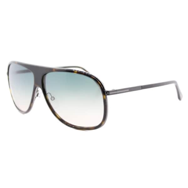 6b1133c917d4 Tom Ford TF 462 56P Chris Havana Plastic Aviator Grey Gradient Lens  Sunglasses