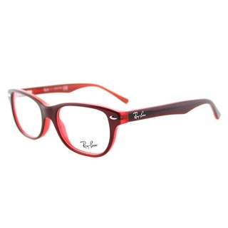 Ray-Ban RY 1555 3664 Red On Fluorescent Red Plastic Rectangle 48mm Eyeglasses