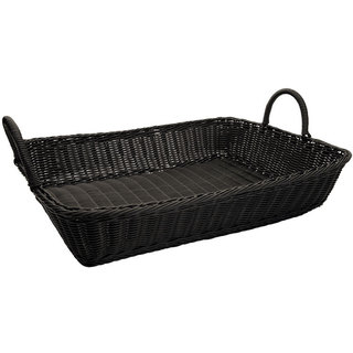Winco Rectangular Poly Woven Baskets with Handles (Pack of 3)