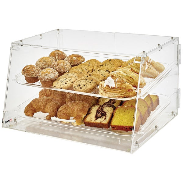 Shop Winco Acrylic 2 Tray Display Case Free Shipping