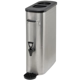 Winco 5-galon Silver Stainless Steel Slim Iced Tea Dispenser