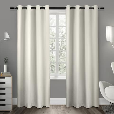 ATI Home Sateen Twill Weave Insulated Blackout Window Curtain 84-inch Length Panel Pair in Linen (As Is Item)