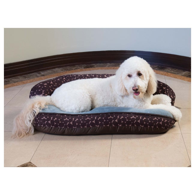 Stone Sofa Comfy Heated Pet Bed (1), Brown
