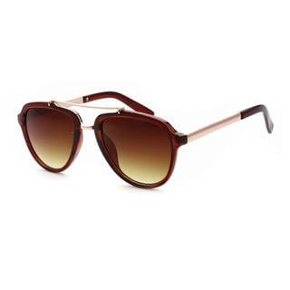 Epic Eyewear Women's UV400 Trendy Urban Metal Crossbar Aviator Sunglasses