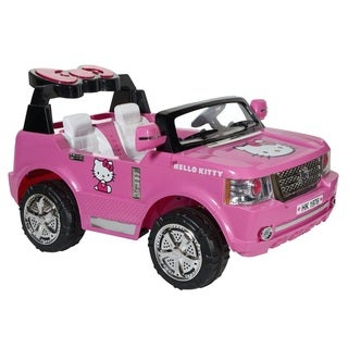 Dynacraft Kid's Hello Kitty Pink 12-volt Rechargeable Light-up SUV
