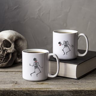 Set of 2 White Ceramic Dancing Skeletons 20-ounce Coffee Mugs|https://ak1.ostkcdn.com/images/products/12436262/P19251997.jpg?impolicy=medium