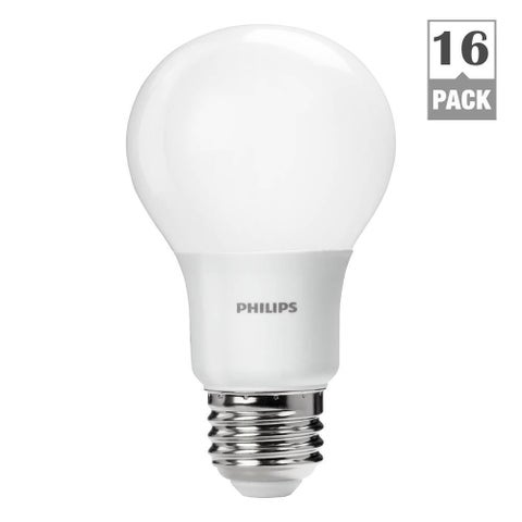 Philips 461137 60-watt-equivalent Daylight A19 LED Lightbulbs (Case of 16)