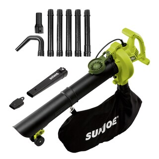 Sun Joe 14-Amp High Performance Variable-Speed (up to 250 MPH) Electric Blower/Vacuum/Mulcher with Metal Impeller + Gutter Kit