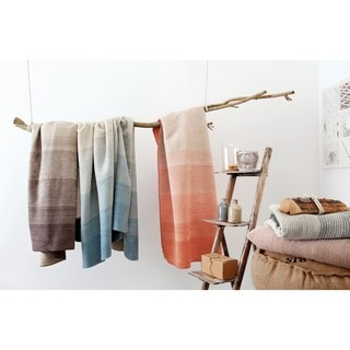 IBENA Ombre Stripe Throw Blanket