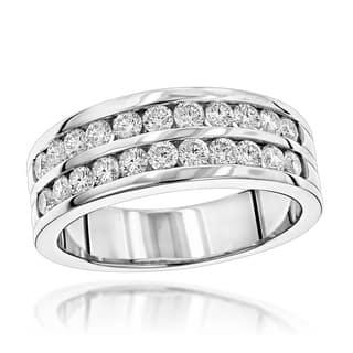 Luxurman 14k Gold Men's 1 1/2ct TDW Diamond Wedding Ring|https://ak1.ostkcdn.com/images/products/12436499/P19252169.jpg?impolicy=medium