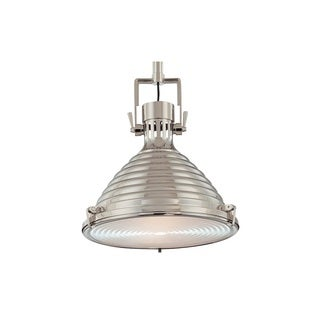 Hudson Valley Naugatuck 15-inch Polished Nickel Pendant