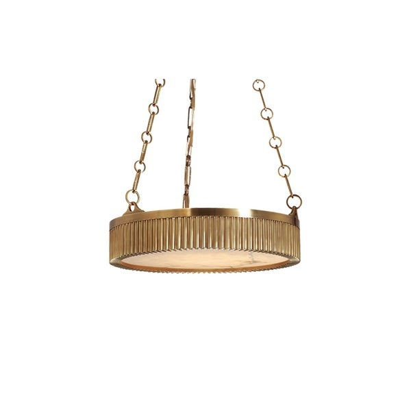 Hudson Valley Lynden 16-inch Aged Brass Pendant