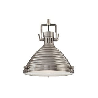 Hudson Valley Naugatuck 15-inch Antique Nickel Pendant