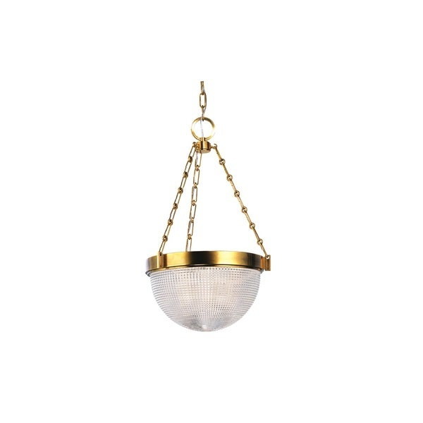 Hudson Valley Winfield 16-inch Aged Brass Pendant
