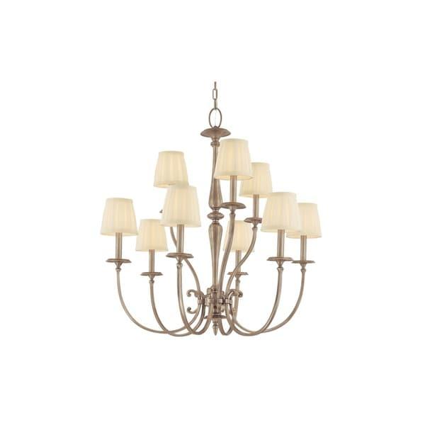 Shop hudson valley jefferson 9 light antique nickel chandelier hudson valley jefferson 9 light antique nickel chandelier aloadofball Gallery