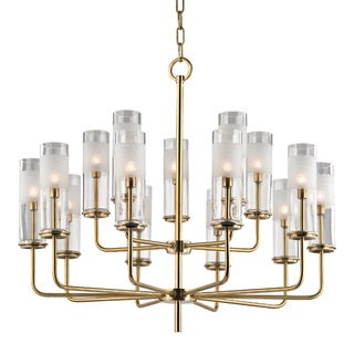 Hudson Valley Wentworth 15-light Aged Brass Chandelier