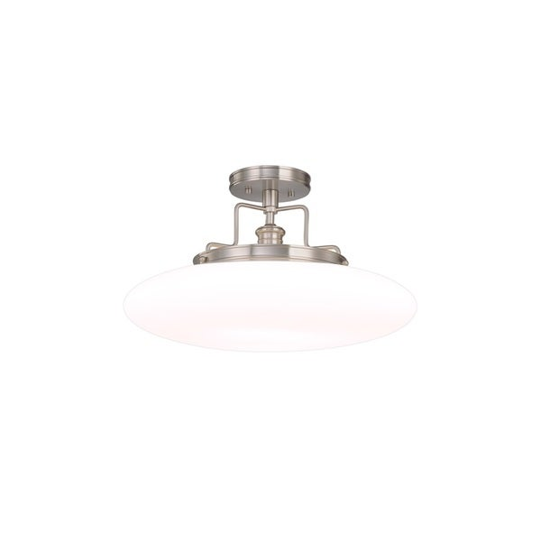 Hudson Valley Beacon 18-inch Satin Nickel Semi Flush