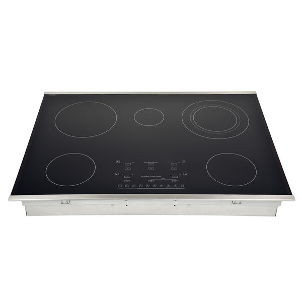 30 Inch Stainless Steel Smooth Top Flex 5 Element Electric Cooktop