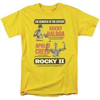 MGM/Rocky Ii/Rematch Short Sleeve Adult T-Shirt 18/1 in Yellow