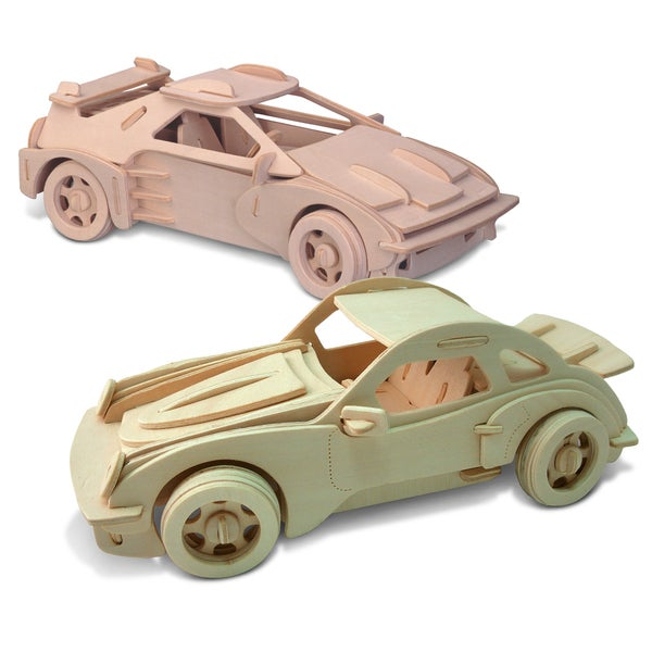Puzzled F-20 and P-911 Large Wooden 3D Puzzle Construction Kit