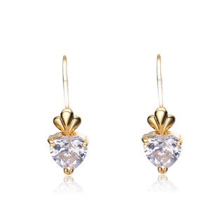Collette Z Sterling Silver Queen of Hearts Cubic Zirconia Earrings