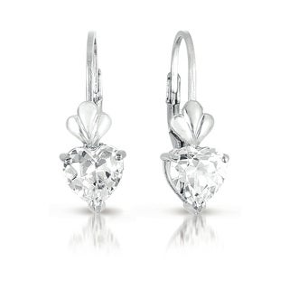 Collette Z Sterling Silver Queen of Hearts Cubic Zirconia Dangle Earrings