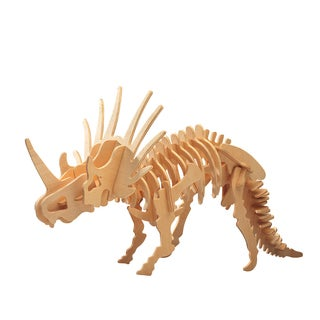 Puzzled Styracosaurus Wooden Large 3-D Puzzle Construction Kit