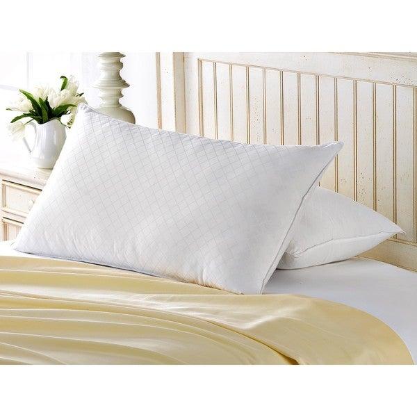 Exquisite Hotel Diamond Jacquard Gel Filled Soft Pillow (Set of 2)