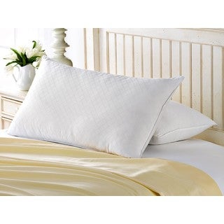 Exquisite Hotel Diamond Jacquard Gel Filled Soft Pillow (Set of 2)