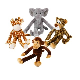 Multipet Swingin' Safari Multicolor Plush Dog Toy