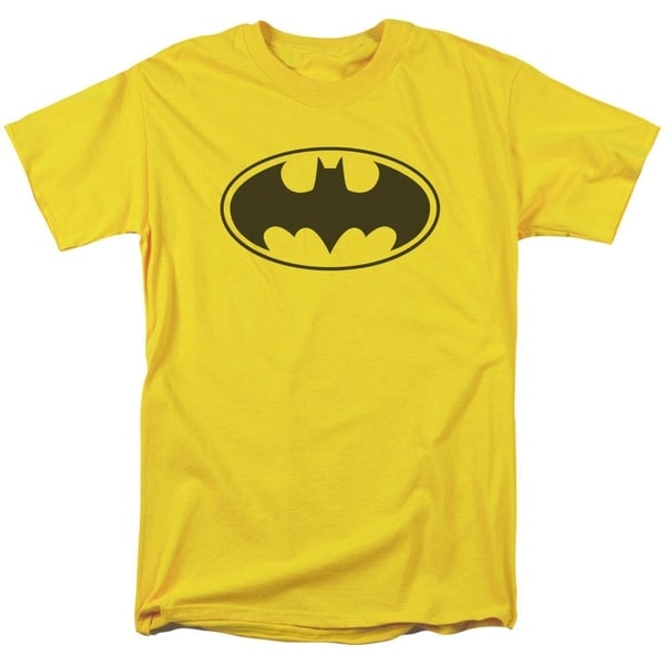 Batman/Black Bat Short Sleeve Adult T-Shirt 18/1 in Yellow